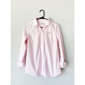 Vineyard Vines Pink Gingham Button Down Women's